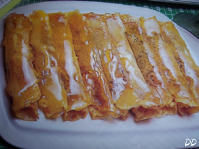 Crepes carammellate