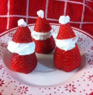 Babbi Natale di panna e fragole