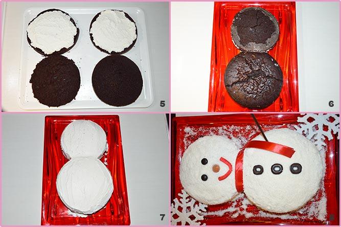 Pupazzo di neve cocco e cioccolato