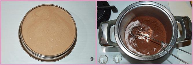 Torta bavarese al cioccolato fondente