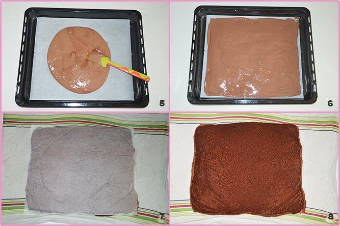 Rotolo di cacao alla ricotta