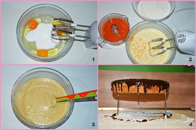 Torta arancia e cannella glassata al cioccolato