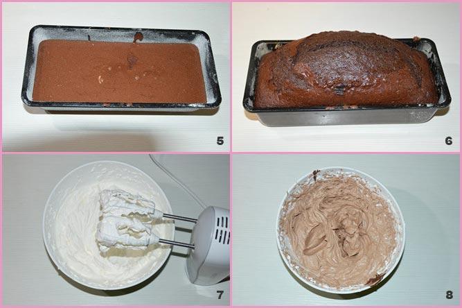 Plumcake al cioccolato con frosting alle nocciole