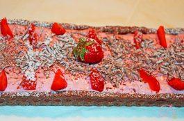 Crostata cioccolato panna e fragole