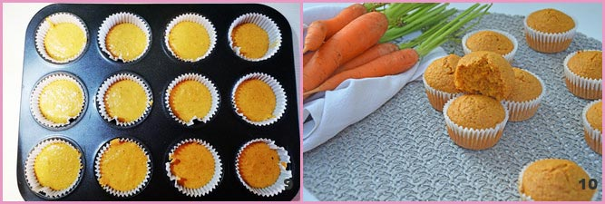 Tortine integrali alle carote