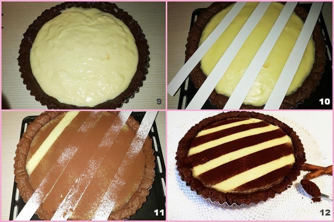 Crostata al cacao con crema alla vaniglia