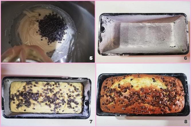 Plumcake alla ricotta con gocce di cioccolato