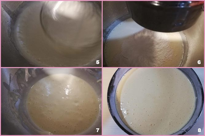 Torta al latte caldo