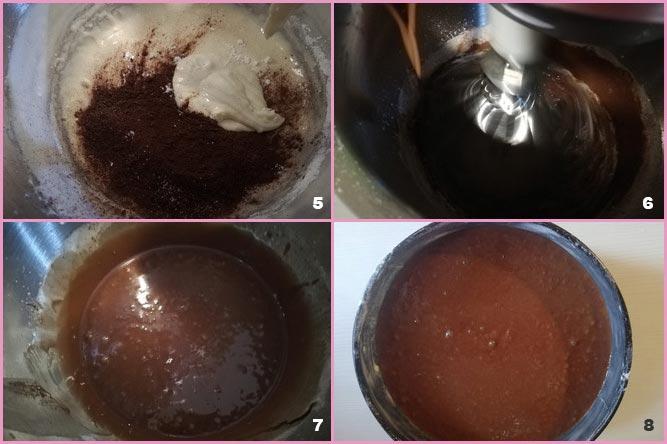 Torta al latte caldo e cioccolato fondente