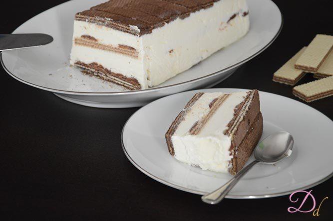 Ricetta Wafer Dolci.Semifreddo Ai Wafer Dolci Dessert