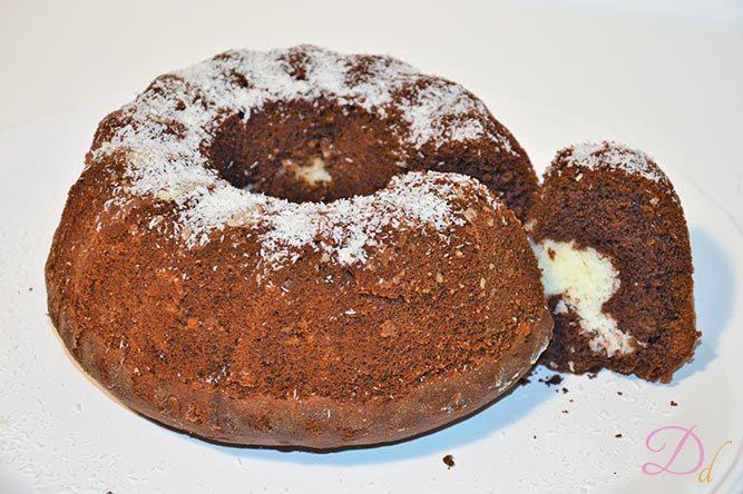 Ciambella Al Cacao Con Cuore Al Cocco Dolci Dessert