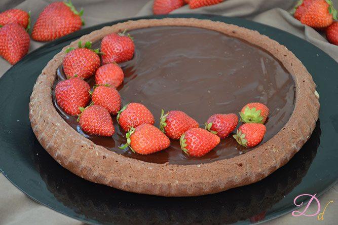 Ricetta Torta Al Cioccolato E Fragole.Torta Californana Al Cioccolato Fondente E Fragole Dolci Dessert