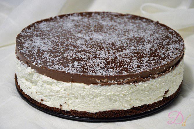 Ricetta Torta Al Cioccolato E Cocco.Torta Fredda Cocco E Cioccolato Dolci Dessert